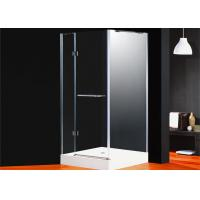 Corner Frameless Shower Enclosures Square Folding Glass Door For Bathroom Manufactures