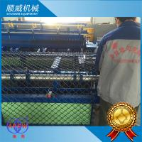 2 Meters Width Chain Link Fence Machine Bule And Green Colour 220 / 380V Manufactures