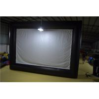 Commercial Outside Inflatable Movie Screen With Double - Line Three Synchronization Sewed Technical Manufactures