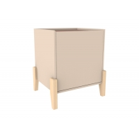 Knock Down 50cm High 42cm Wide Wood Bedside Table Manufactures
