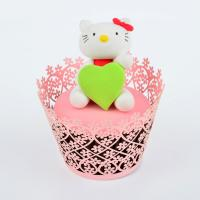 China Red Hollow Baby Shower Pearl Paper Cupcake Wrappers Personalized Eco - Friendly on sale