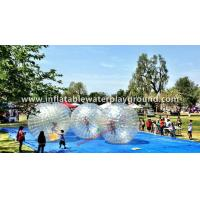 Crystal Clear Soccer Bubble Inflatable Human Zorb Ball On Ground Manufactures
