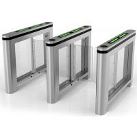 Glass Wing Slim Lane Automated Security Gates , 304 Stainless Steel Manufactures