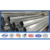 30FT High Hot Dip Galvanized Steel Electric Power Pole 127mm / 248mm Diameter Manufactures