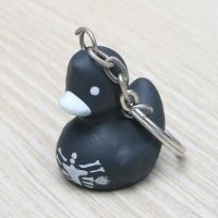 Black Vinyl Skeleton Duck Rubber Duck Keychain Party Favors Gift For Home Key Manufactures