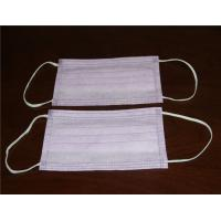 Quality disposable nonwoven 3ply face mask with ear loops or tie on for sale