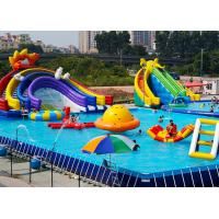PVC Tarpaulin Large Inflatable Water ParkWaterproof Anti - Corrosion For The Water Play Manufactures