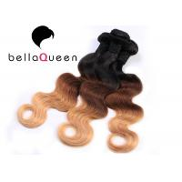 Indian Virgin Ombre Remy Hair Extensions , Body Wave Human Hair Weave Manufactures