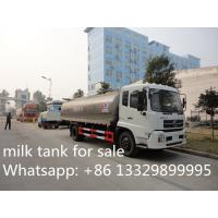 high quality Dongfeng tianjin 4*2 LHD12m3 fresh milk tank truck for sale, factory sale best price foodgrade milk truck Manufactures