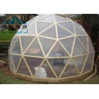 UV Resistant Geodesic Dome Tent With Double PVC Coated Polyester Textile Manufactures