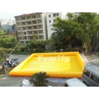 Durable Custom Size Inflatable Water Swimming Pool Yellow 1 Years Warranty Manufactures
