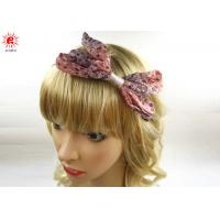 China Stylish Hair Accessories Ladies Hair Bands With Bow , Customized on sale