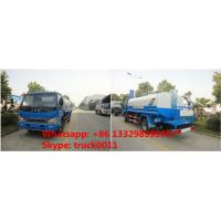 Quality bottom price 120HP 4x2 HFC JAC 4*2 LHD 6000 liter water truck, wholesale bottom price JAC brand 5m3-6m3 cistern truck for sale