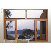 Wood Color Double Glazed Casement Windows Energy Saving Waterproof / Soundproof Manufactures