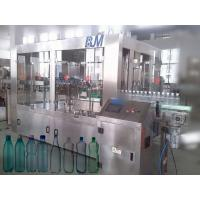 6000BPH 500ml Automatic Bottle Filling Machine , 18-18-6 Rinser Filler Capper Machine Manufactures