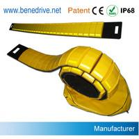 Emergency Police Road Speed Bumps , 3.65 Meters Rubber Speed Bumps Manufactures