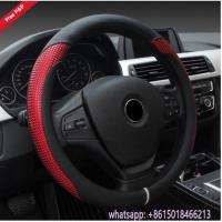 Colorful black grey beige red Amaon hot sell car steering wheel cover from China supplier Manufactures
