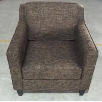 Hotel wooden  fabric upholstery lounge chair ,single sofa LC-0017 Manufactures