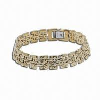 Stainless Steel Bracelet with Carbon Fiber, Silver and Gold Plating Available Manufactures