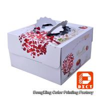 Corrugated Paper Decorative Cake Packaging Boxes White With Handle Manufactures
