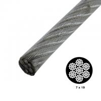 7x19 Strong Vinyl Coated High Tensile Wire Rope Galvanized For Security Cables Manufactures