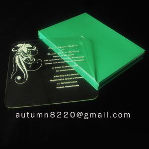 beautiful acrylic invitation Manufactures