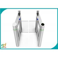 Servo Driver High Speed Gates , Slim Wing Access Control Barriers Toughened Glass Manufactures