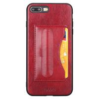 Ultra Thin Red Iphone 7plus 8plus Smartphone Back Cover Id Card Slot Support Holder Manufactures