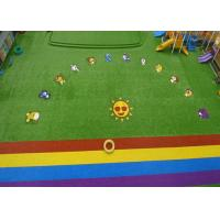 Custom Natural Green Coloured Artificial Grass For Garden Playground Manufactures
