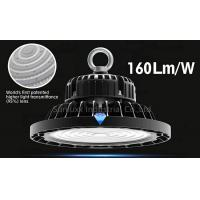 Quality 3 In 1 Dimmable UFO High Bay Warehouse Lighting Fixture With Black Color Shell for sale