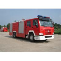 Sinotruk HOWO Engine Motorized Fire Truck , Pumper Tanker Fire Trucks Load Max 26000kg Manufactures