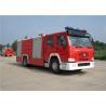 Buy cheap Sinotruk HOWO Engine Motorized Fire Truck , Pumper Tanker Fire Trucks Load Max 26000kg from wholesalers