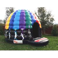 Party theme rainbow colorful inflatable disco dancing music dome bouncy castle Manufactures