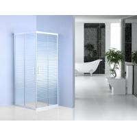 Stripe Pattern Glass Bathroom Shower Enclosures 185cm Height  For Hotel Manufactures
