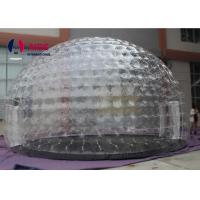 Quality 0.8mm Pvc Material Dry Inflatable Event Tent Holley web Inflatable Bubble Tent House Dome for sale