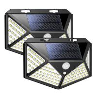 China 100 LED 114 LED Solar Sensor Wall Light 10W Waterproof Garden Solar Powered Lamp for Outdoor Customized on sale