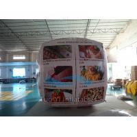 Cube Balloon Inflatable Sphere Balls , Square Air Advertising Balloons Manufactures
