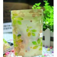 Buy cheap Recycled 80 Micron Leaf Plastic Zipper Bags Resealable For Promotional from wholesalers
