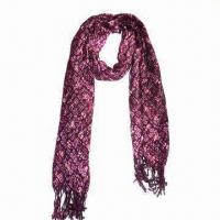 Ladies Scarf, Made of 100% Polyester, with All Over Print Manufactures