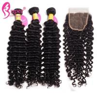Buy cheap Burmese Deep Curly Hair Cutting Style For Hair Do Extension Bundles from wholesalers