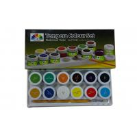 Metallic primary acrylic paint colors , Tempera Colour set Paint Color Pigments Manufactures