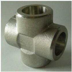 Cross Tee Forged Steel Fittings, ASTM B564 Nickel Alloy flangeolet , weldolet , reduce tee , elbow , cap , tee Manufactures