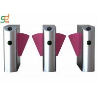 China 316 Stainless Steel Flap Pedestrian Barrier Gate Automatic Turnstiles on sale