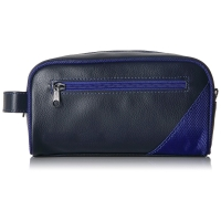 Zipper Closure Travel Leather Toiletry Bag For Men Manufactures