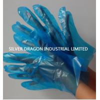 Blue HDPE disposable gloves, Embossed, Size S,M,L Manufactures