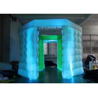 2 Doors Inflatable Photo Booth Kiosk Diamond Shape With Air Blower Manufactures