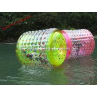 Lake Floating Inflatable Water Roller / Inflatable Rolling Ball For Aqua Fun Manufactures