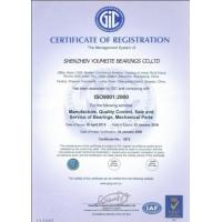 Shenzhen Youmeite Bearings Co., Ltd. Certifications