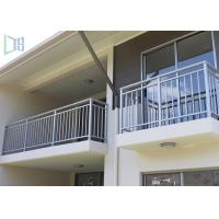 Residential Housing Interior Aluminum Railings , Horizontal Aluminum Balcony Railing Manufactures