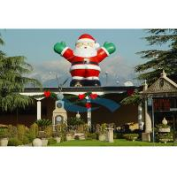Quality Giant Inflatable Cartoon Characters / Inflatable Santa Claus for Christmas for sale
